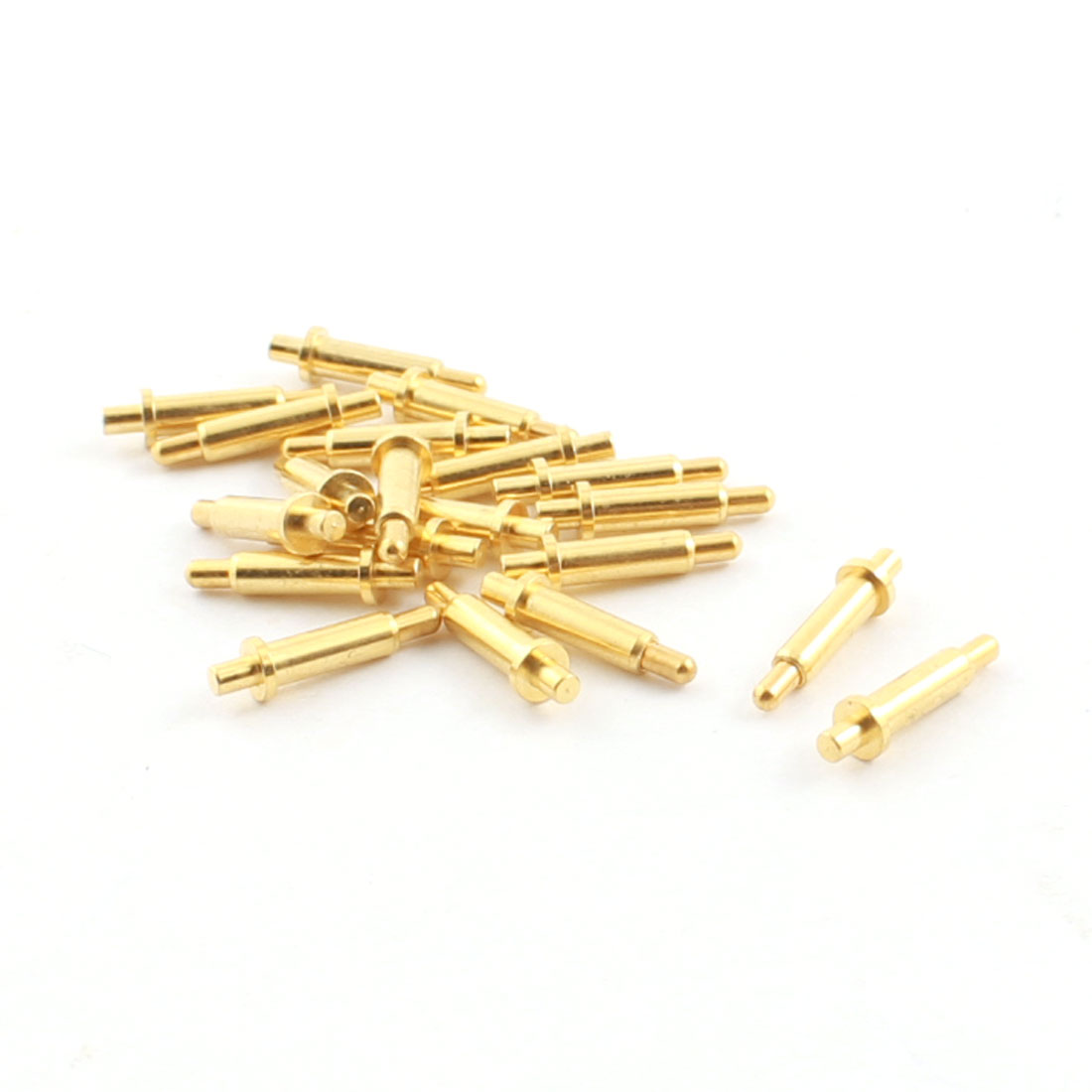 20Pcs Torx Head Tip Mini Gold Tone Metal Spring Test Pin Probe 1.4mm Dia 11mm Length