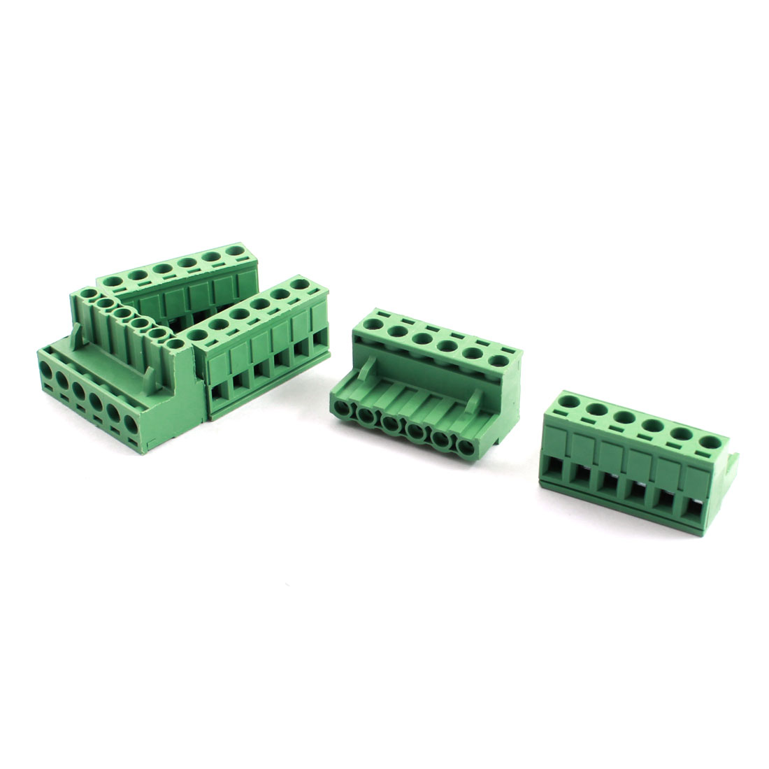 5Pcs AC300V 16A 5.08mm Pitch 14-22AWG 6-Position PCB Screw Terminal Barrier Block Connector Strip