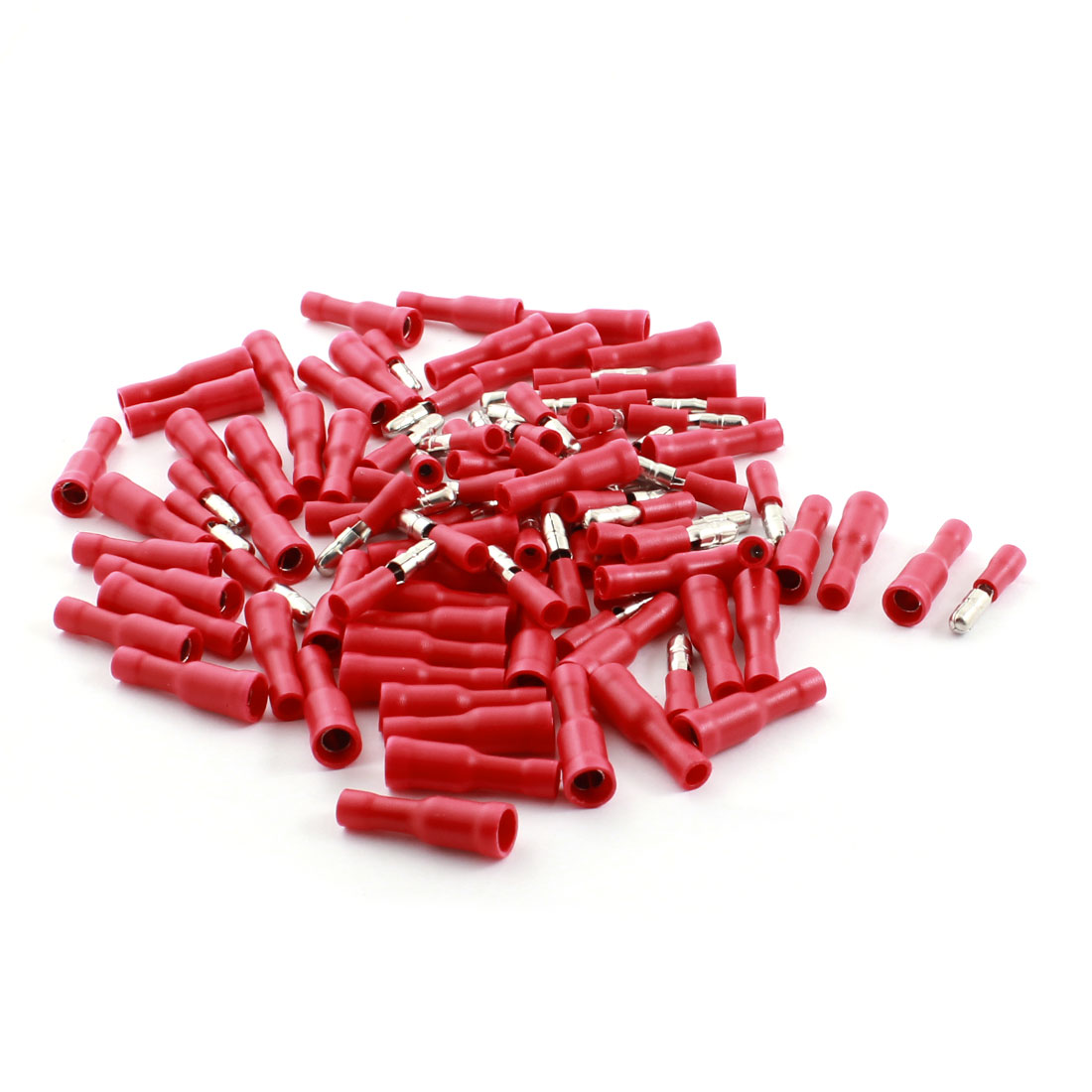 100Pcs FRD2-156 16-14AWG Full Insulated Red Male Female Crimp Terminal Connector