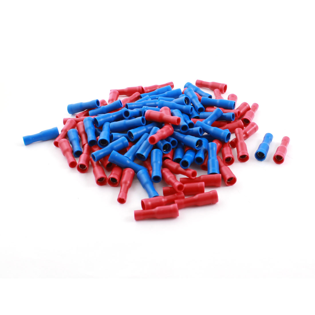 100 Pcs 16-14AWG Red Blue Fully Insulated Female Crimp Terminal Cable Connector FRD2-156