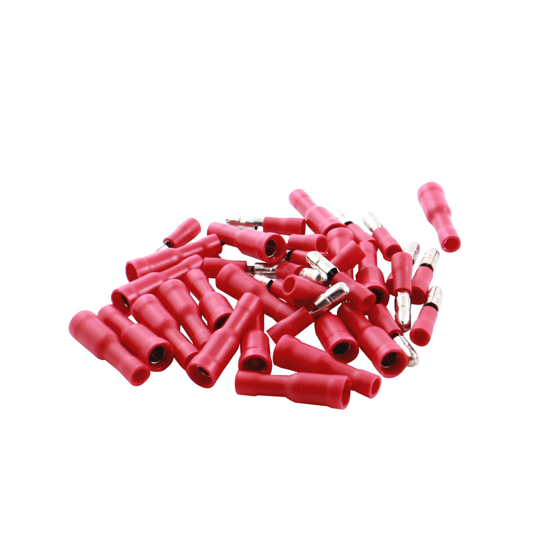 40Pcs FRD2-156 15A Full Insulated Red Male Femal Crimp Terminal Cable Connector for 16-14AWG Wire