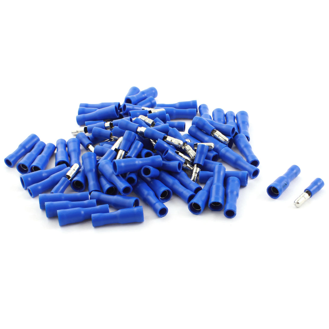FRD2-156 Blue Full Insulated Male/Female Electrical Crimp Terminal Cable Connector 15A 16-14AWG 100 Pcs