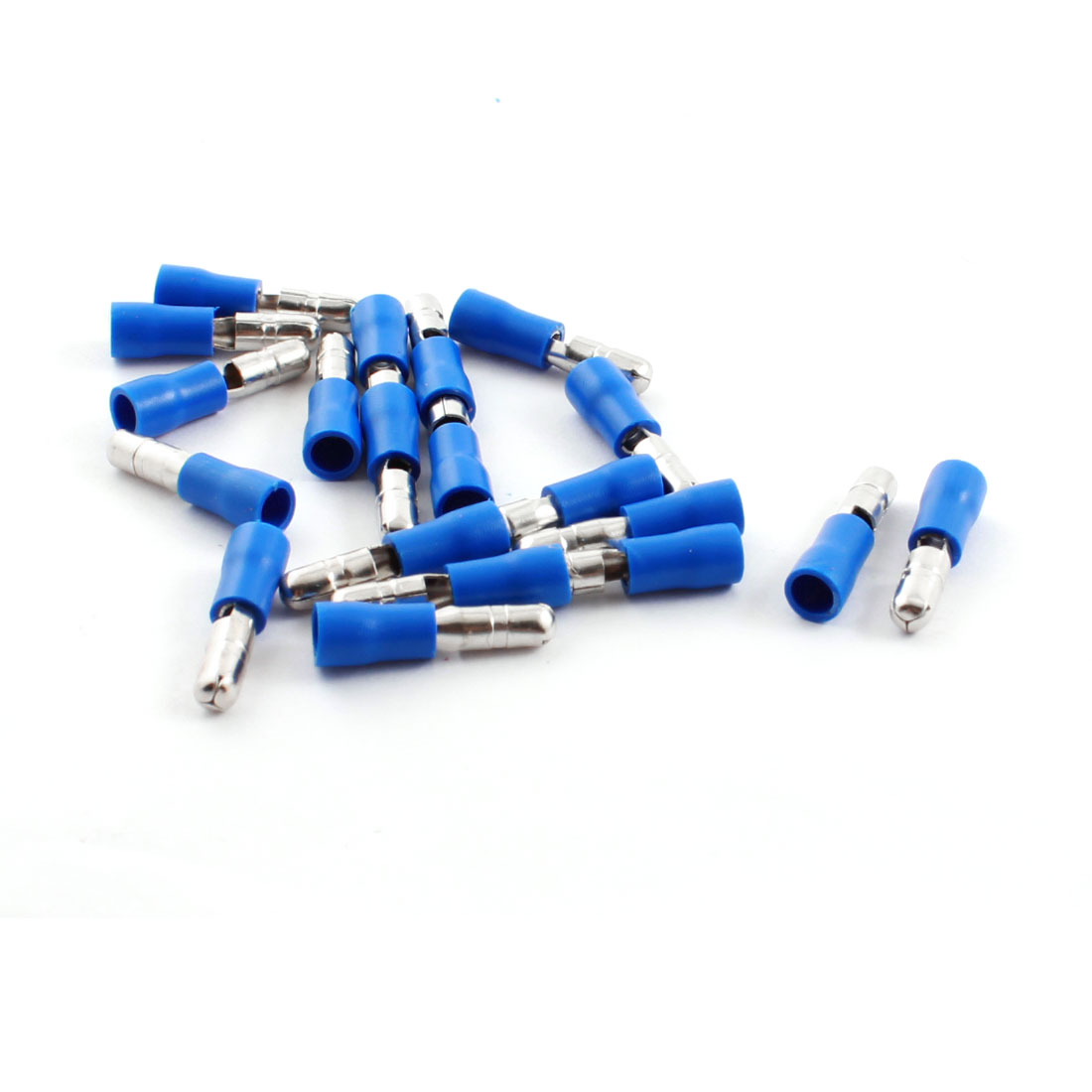 20 Pcs FRD2-156 15A Blue Full Insulated Male Bullet Terminal Cable Connector for 16-14AWG Wire