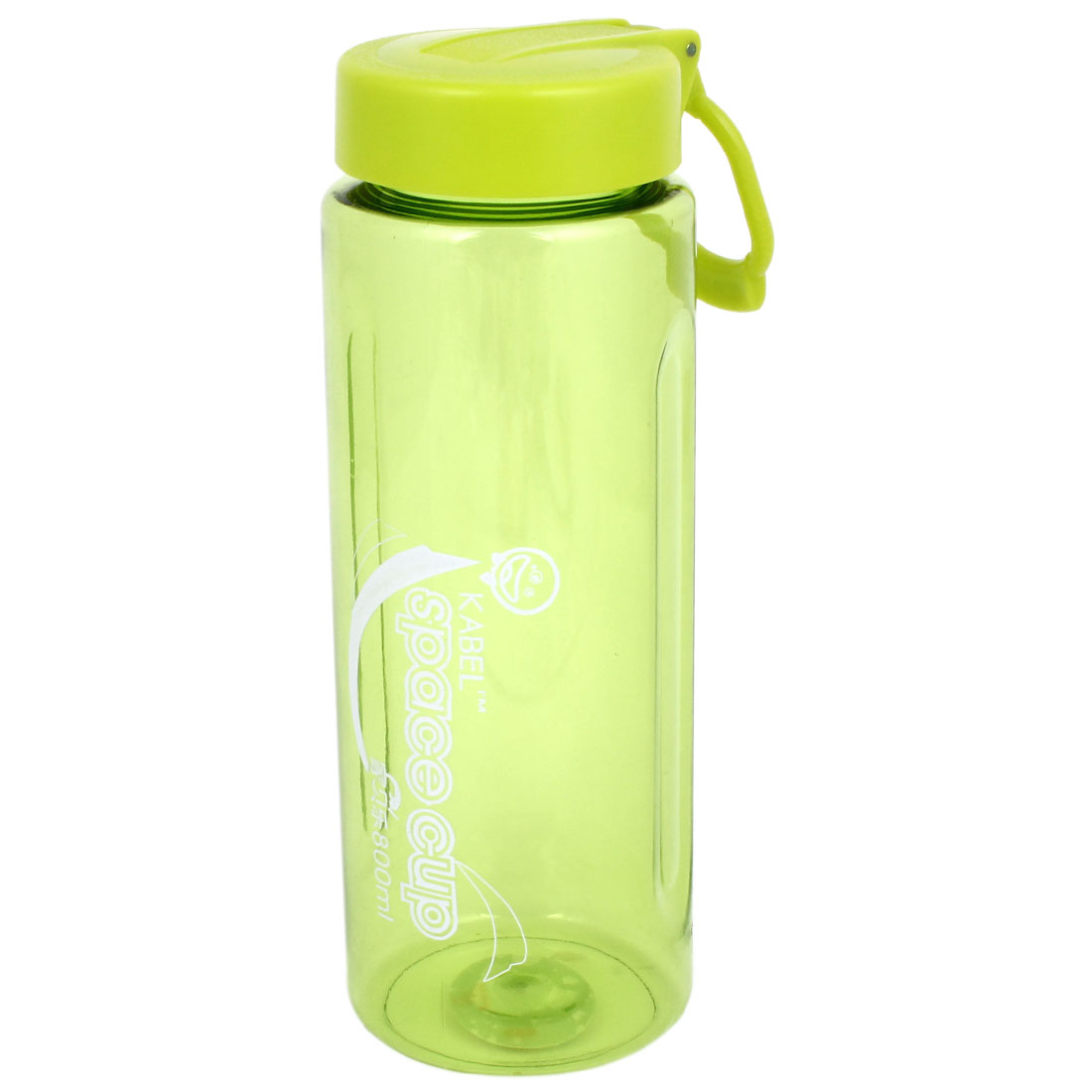 Plastic Clear Green Cylinder Shaped Drinking Water Bottle Holder 800ml