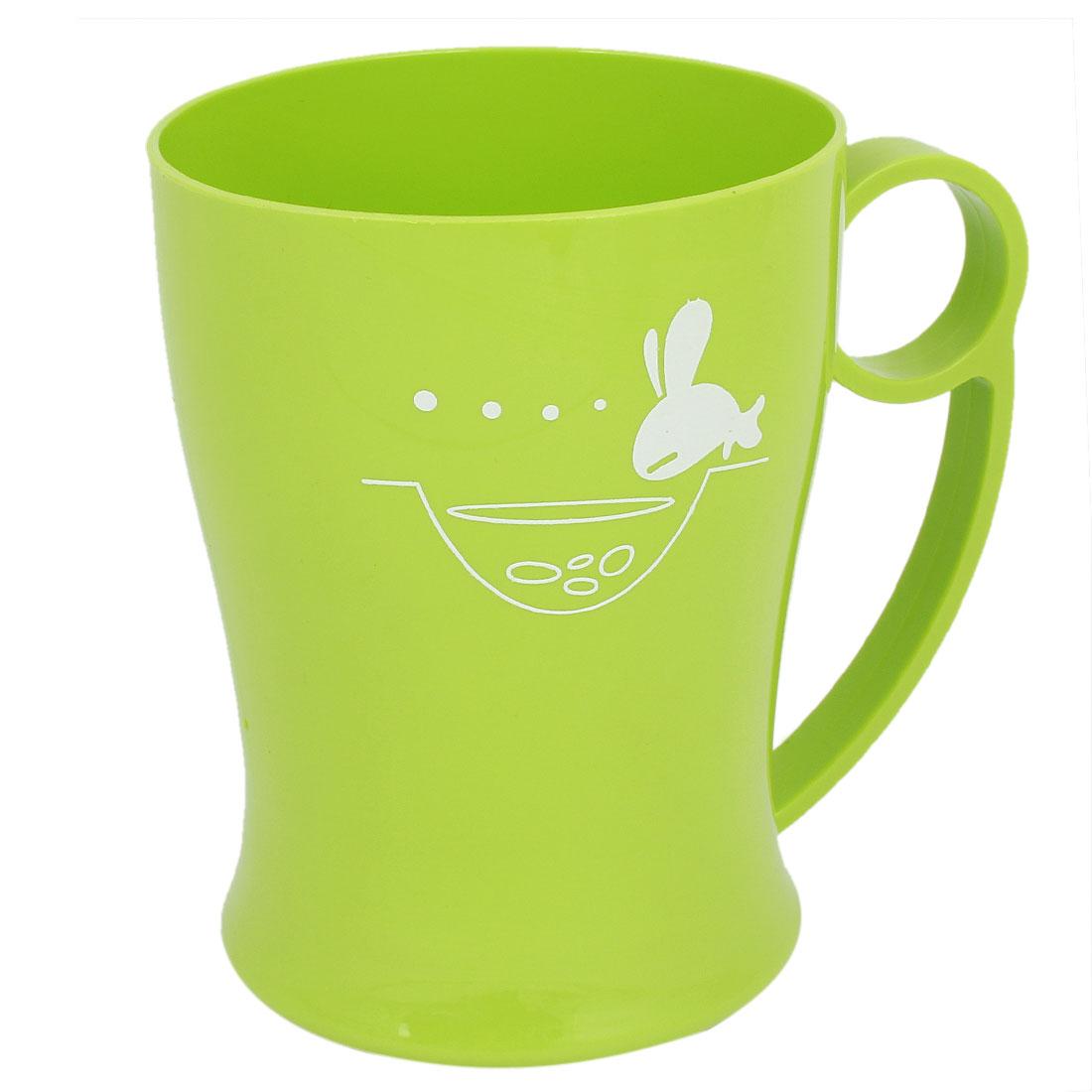 Home Household Fish Pattern Handgrip Water Bottle Gargle Toothbrush Cup Green