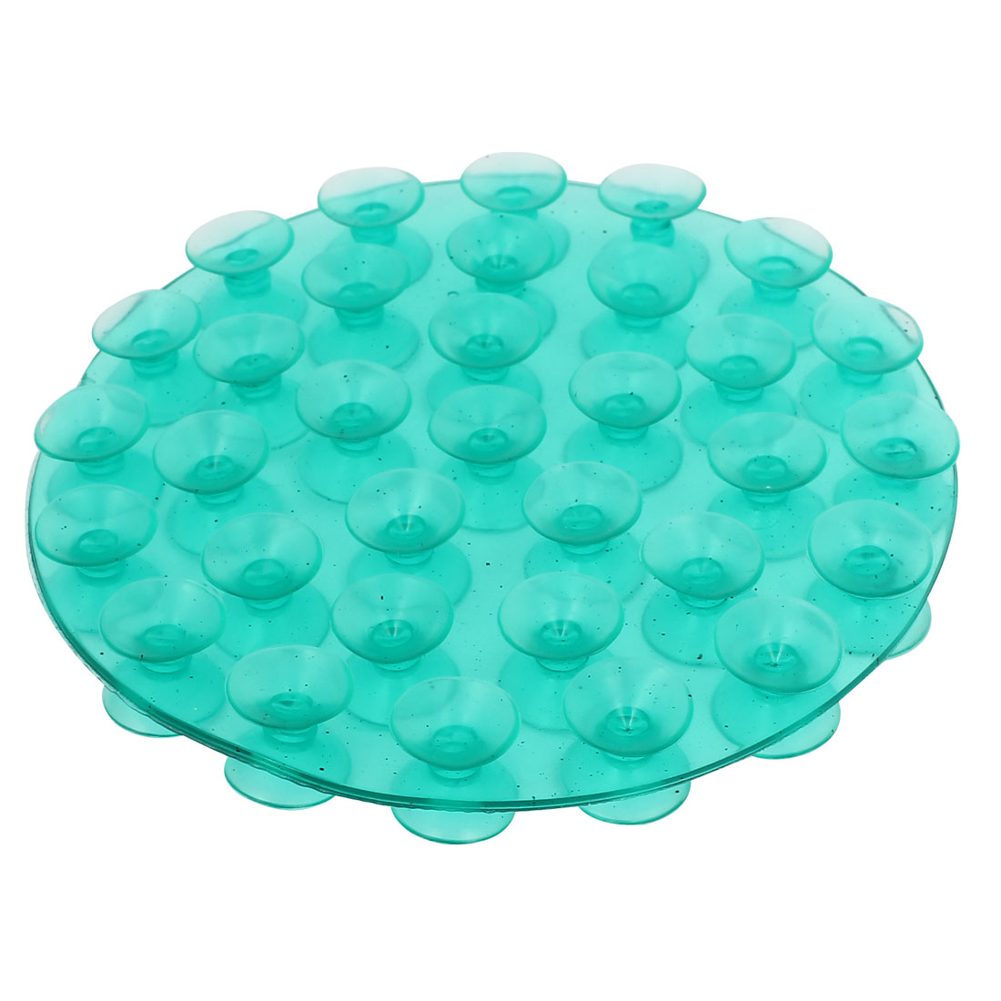 Green Soft Plastic Double-Sided Round Shape Nonslip Pad Soap Sticker Holder Suction Cup