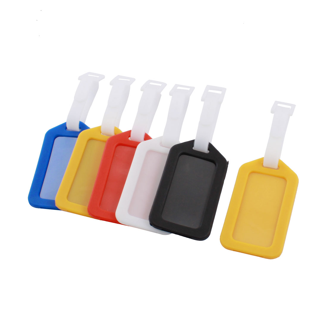 Assorted Color Plastic Address Information Name Labels Travel Suitcase Luggage Tag 6 Pcs