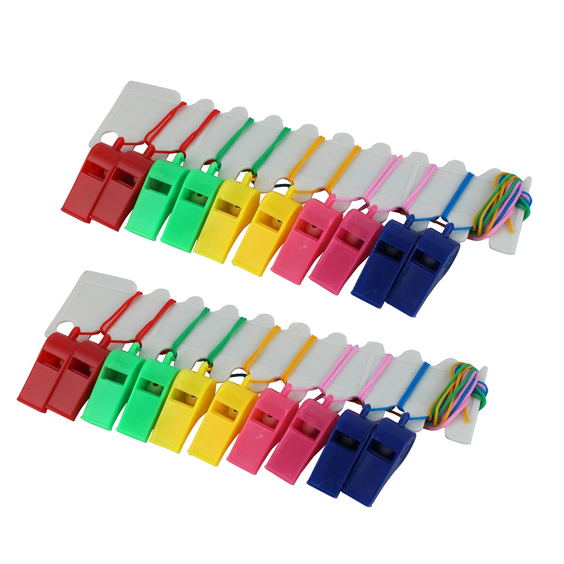 Colorful Nylon Neck Strap Basketball Match Referee Whistles 20 Pcs