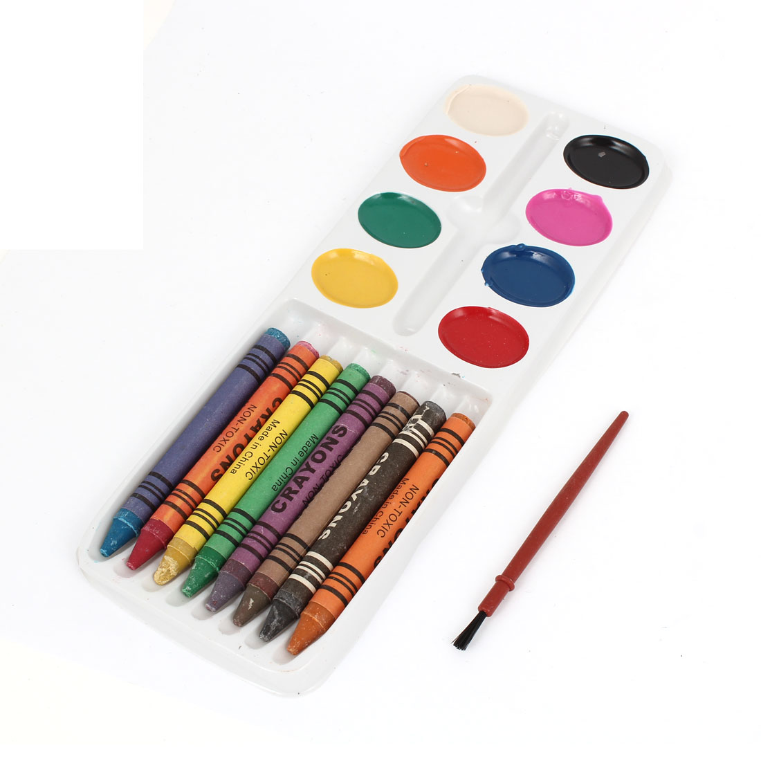 8Pcs Accorted Color Artistic Oil Paint Stick Wax Crayon Pastel w Watercolor Paint