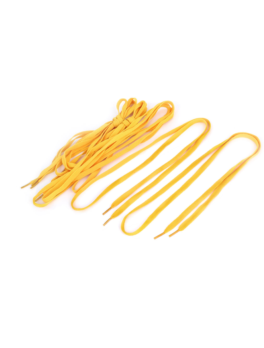 Ladies Men Yellow Sports Leisure Sneakers Flat Shoelaces Shoes String 4 Pairs