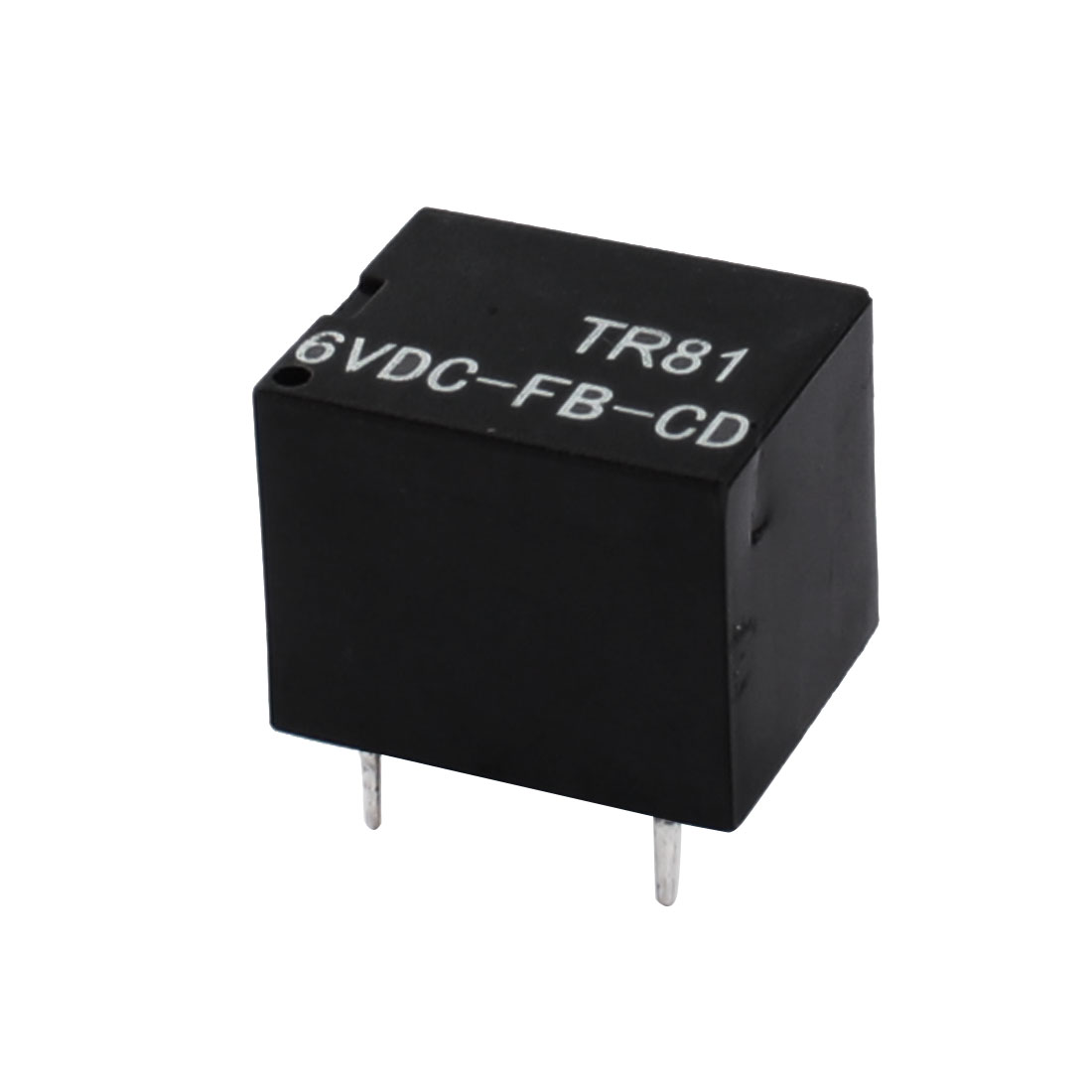 DC6V Coil Voltage 5-Pin Single Pole Double Throw 1NO 1NC PCB Type General Purpose Power Relay Black