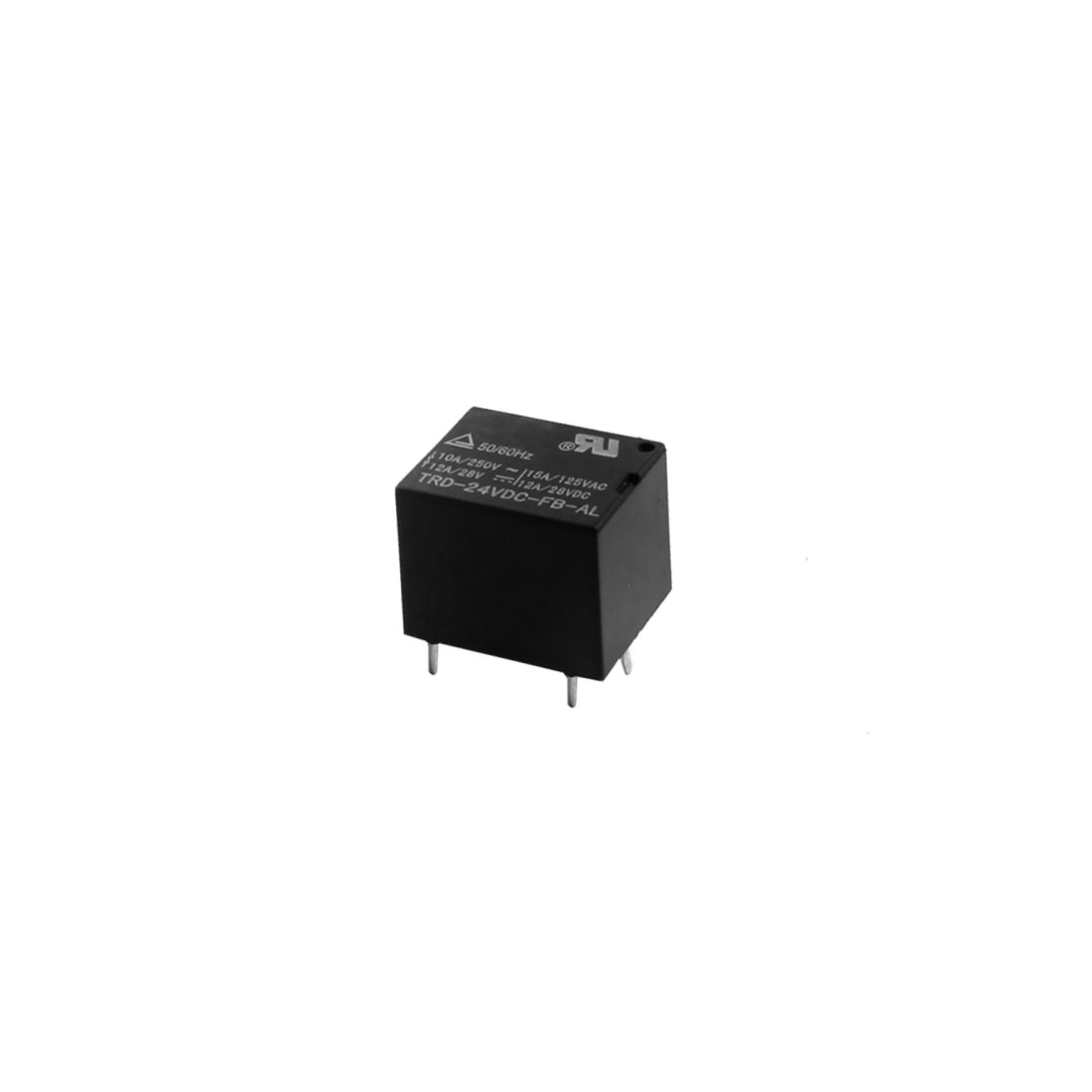 DC24V 4Pin SPST NO PCB Type General Purpose Coil Power Relay Black