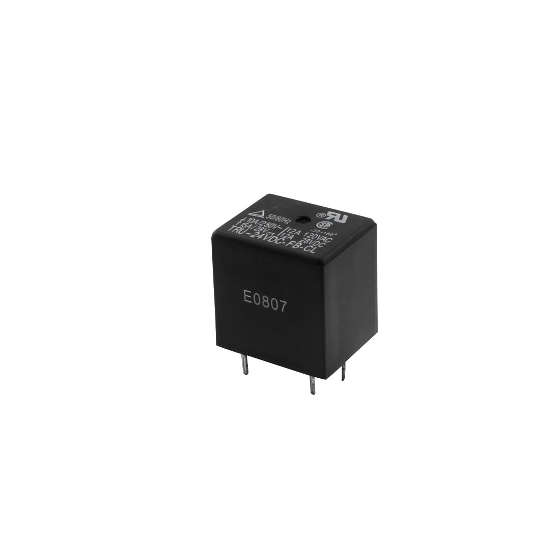 DC24V Coil Voltage 5-Pin SPDT 1NO 1NC Car Auto General Purpose Plastic Housing Power Relay Black