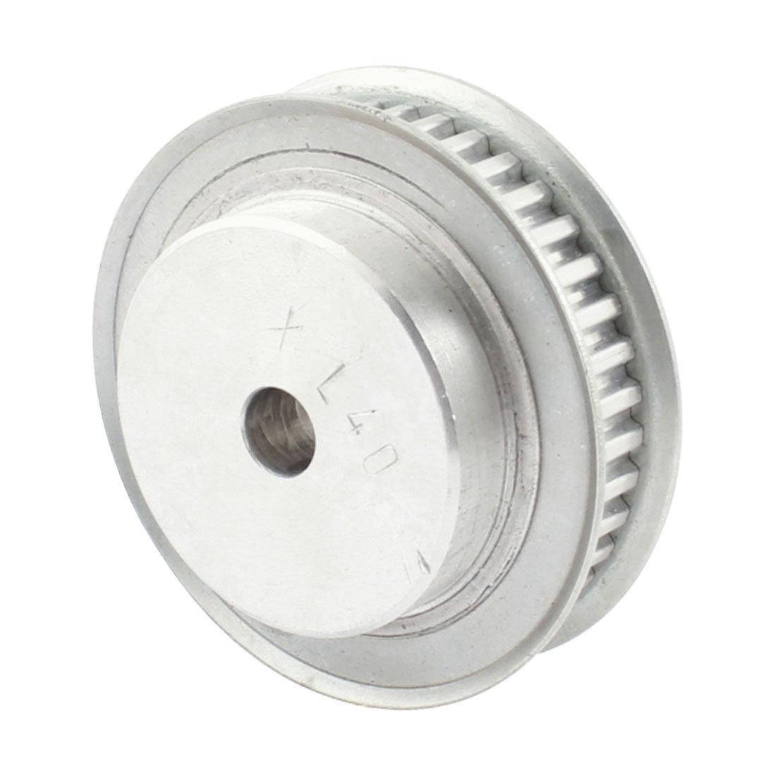 "XL40 037 40-Teeth 10mm Pilot Bore Aluminum Alloy Dual Flange Groove Synchronous Timing Belt Pulley 0.37"" Width"