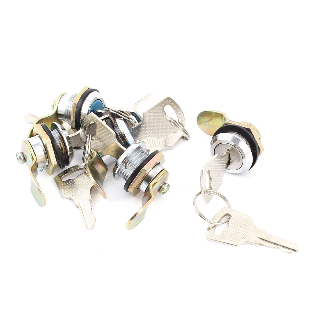 5pcs Metal Single Point Cylinder Cam Lock for Electrical Cabinet