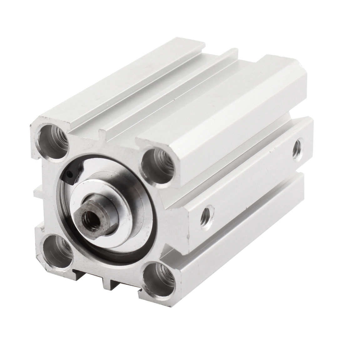 25mm Bore 40mm Stroke Aluminum Alloy Compact Mini Thin Air Cylinder Pneumatic Repair Parts Silver Tone