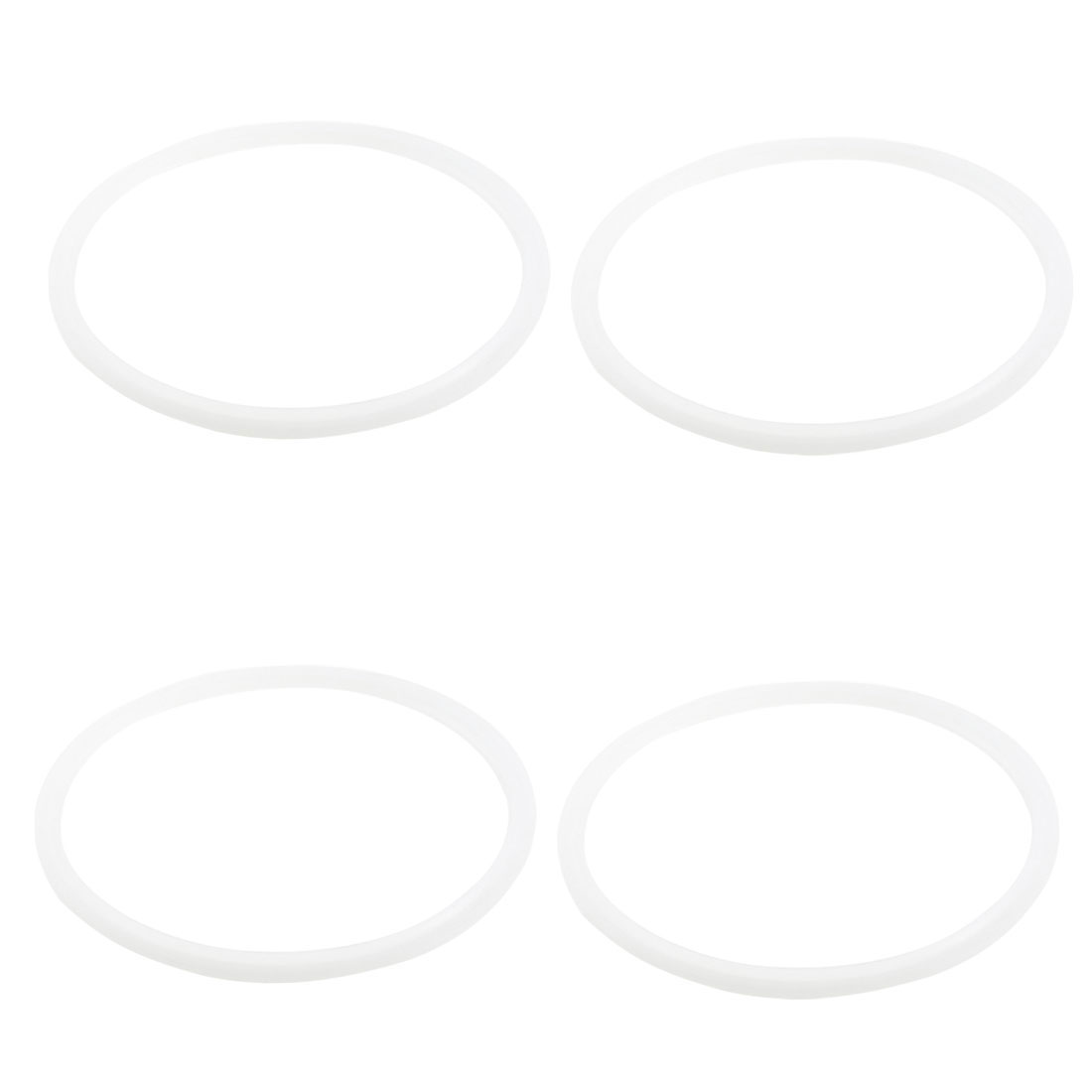 4Pcs Kitchen Clear Blue Silicone Pressure Cooker Gasket Sealing Ring 22.5cm Dia