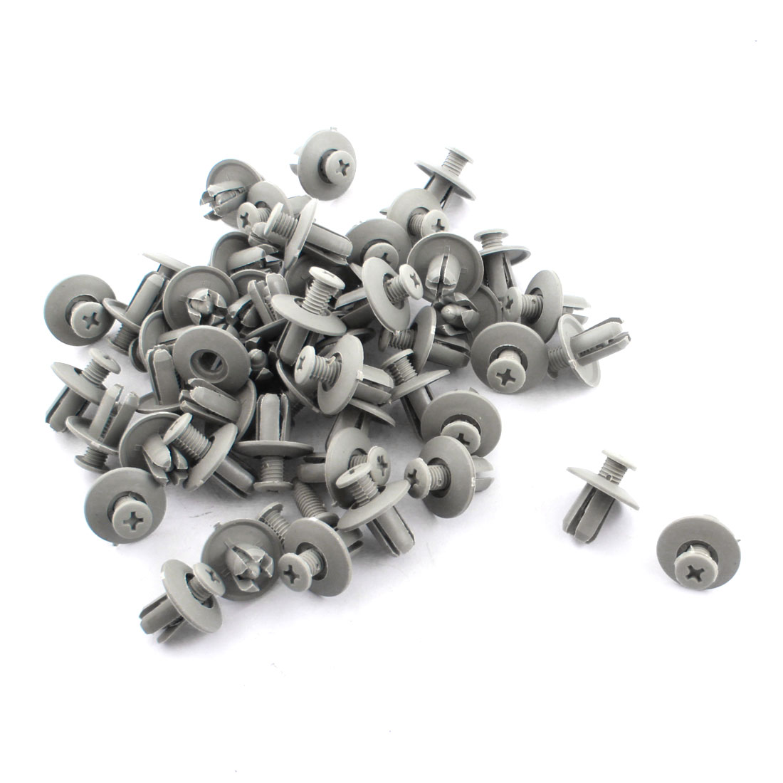 Auto Car Gray 8mm Hole Door Fender Plastic Rivets Fasteners 100 Pcs