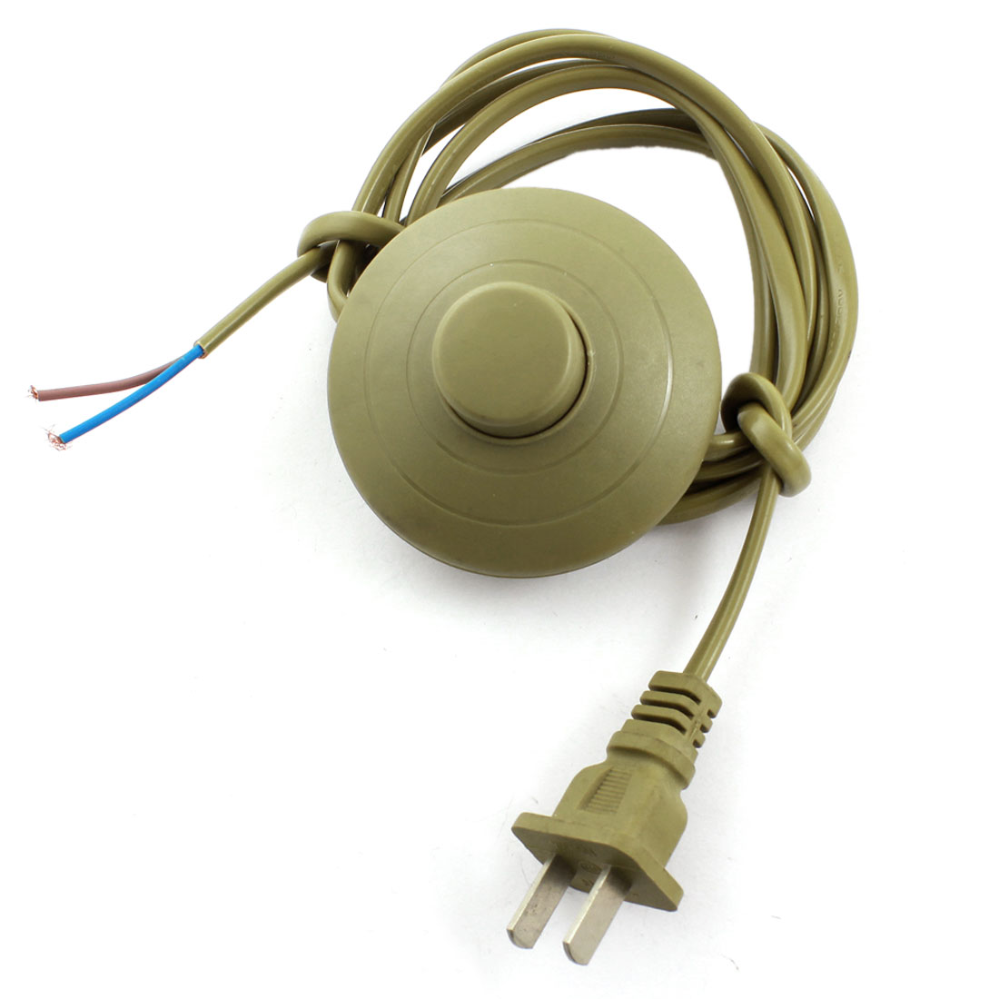 Brown Round AC 125V 3A AC 250V 6A US Plug On-Off Light Power Step On Foot Switch 1.8M