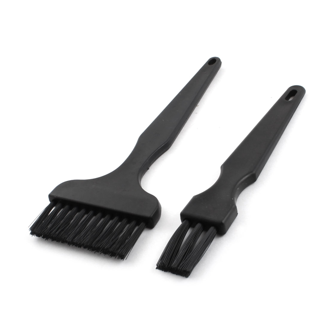 2 Pieces Black Plastic Handle Conductive Ground ESD Anti Static Brush Combo