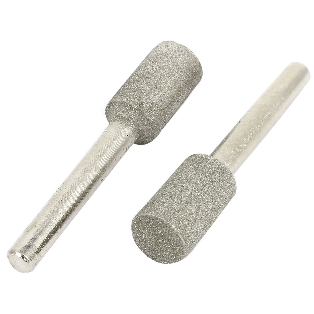 2pcs 6mm Alloy Straight Shank Diamond Mounted Point Grinding Head 60mm Length