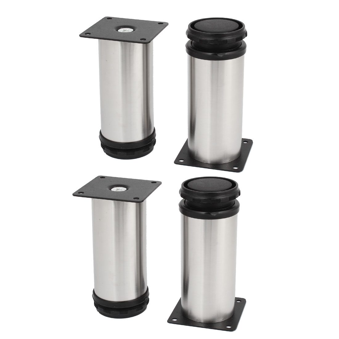 12cm High Stainless Steel Chair Cabinet Support Adjustable Leg Feet 4 Pieces