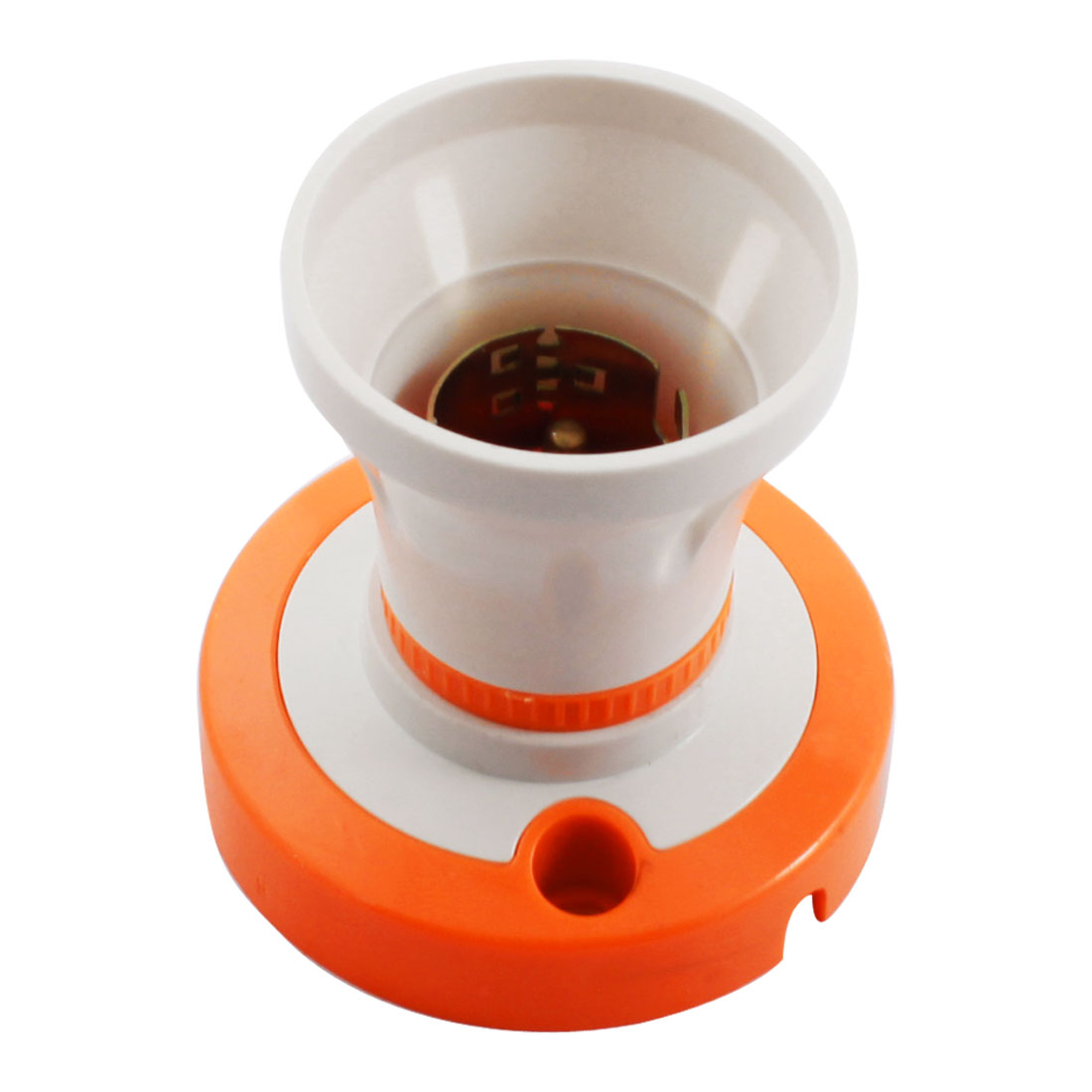 Plastic Round Base Straight B22 Light Bulb Holder Socket
