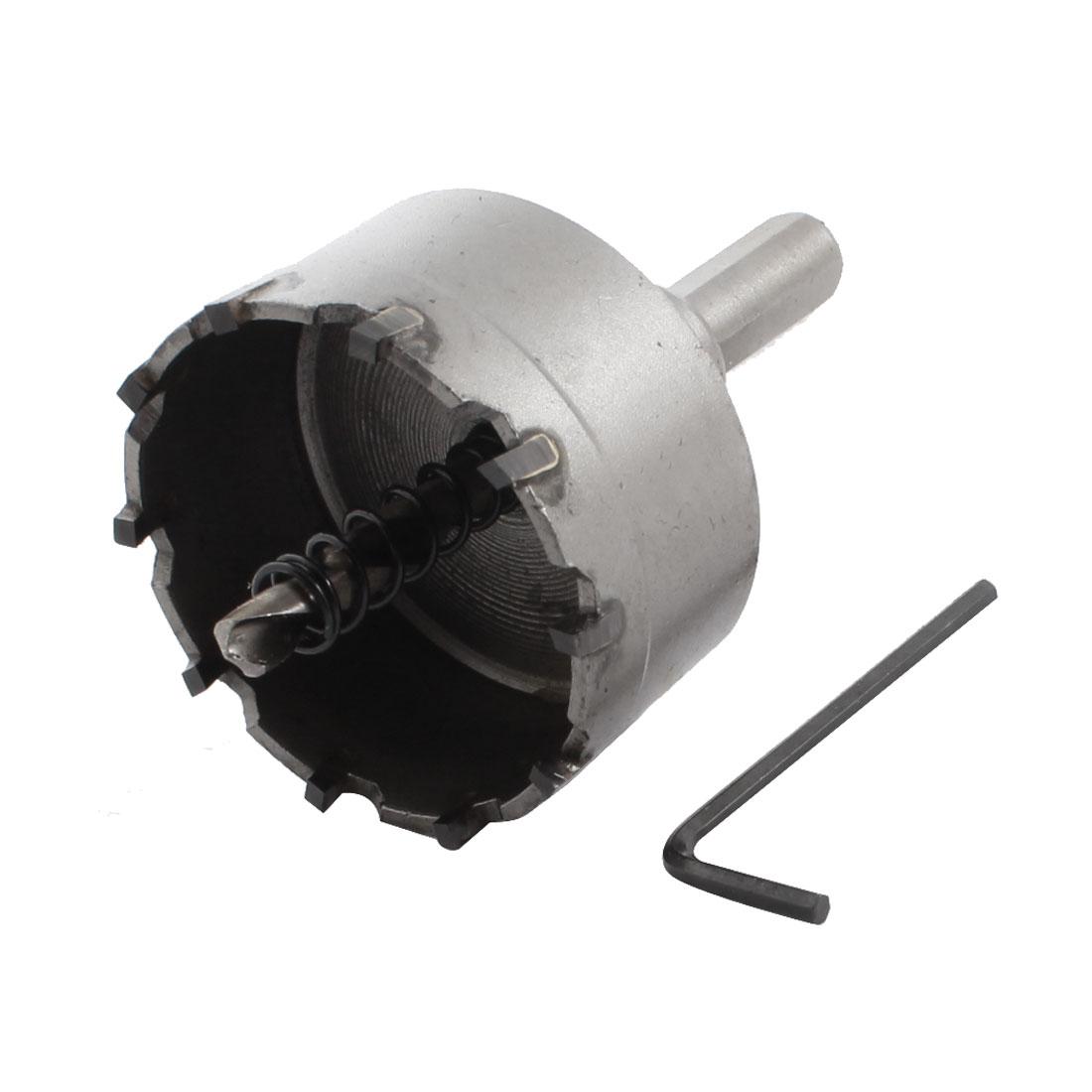 Metal 53mm Diameter Alloy Cutting Twist Drill Bit Hole Saw 89mm Length