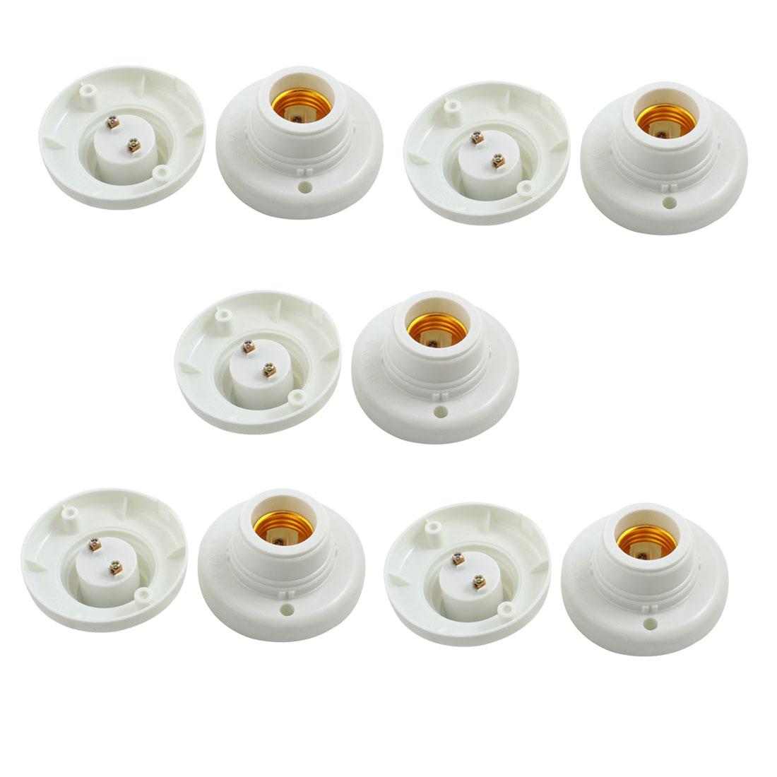 10PCS Wall Ceiling E27 Socket Lamp Bulb Holder Adapter Converter