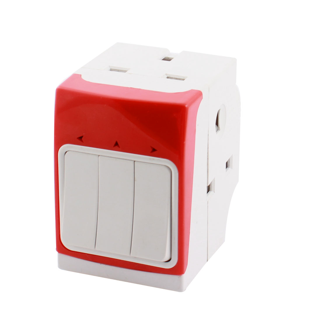 AC 250V 13A UK Plug to 3 UK Socket Switch Control Power Adapter