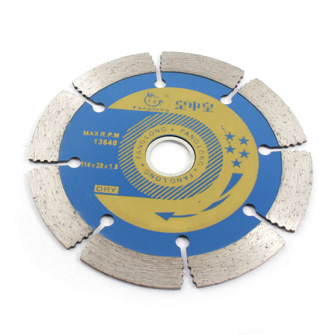 Silver Gray Blue Marble Cutting 114mm Dia Diamond Saw Blade 13640RPM