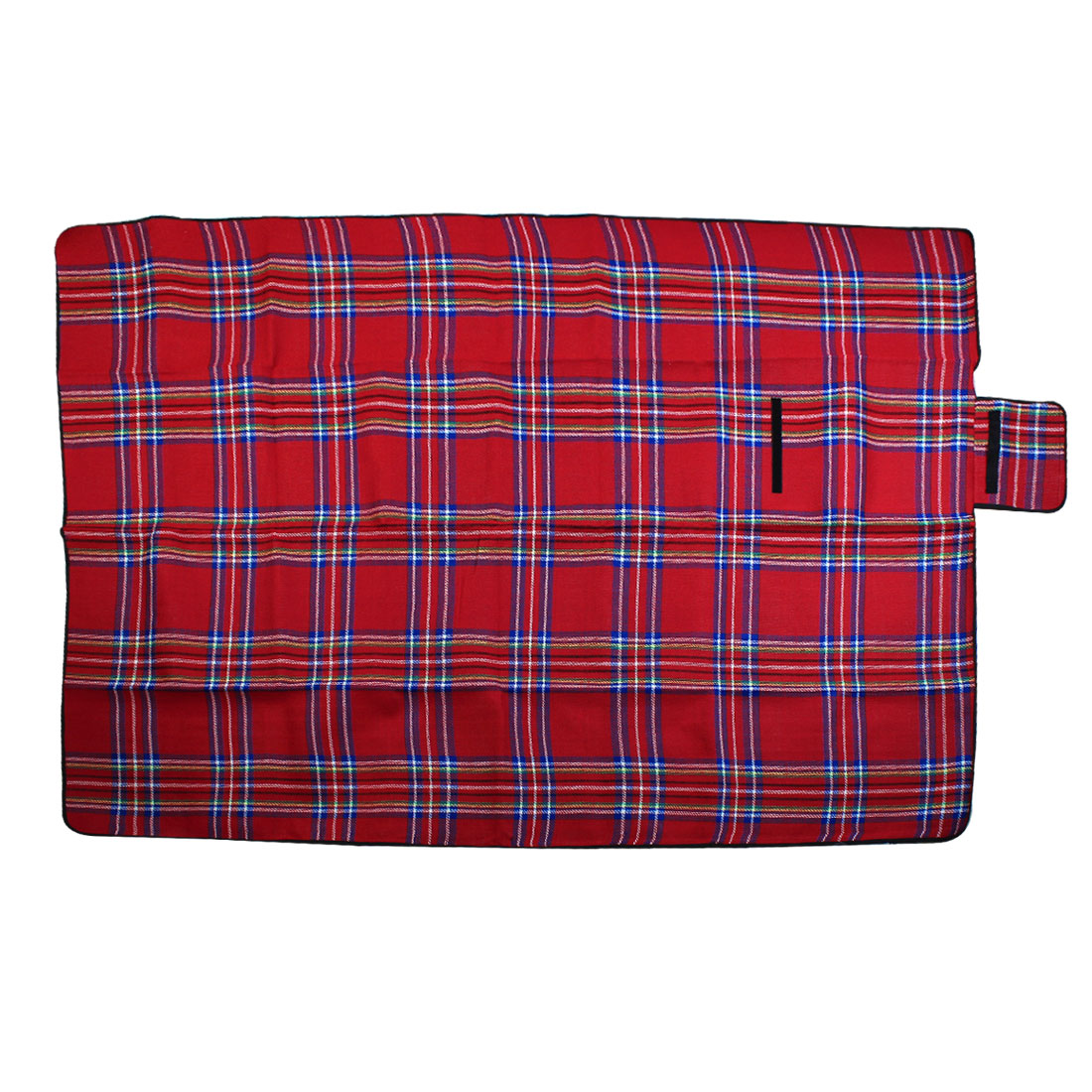 Portable Cashmere Plaid Pattern Waterproof Camping Picnic Mat Matress 200cm x150cm Red