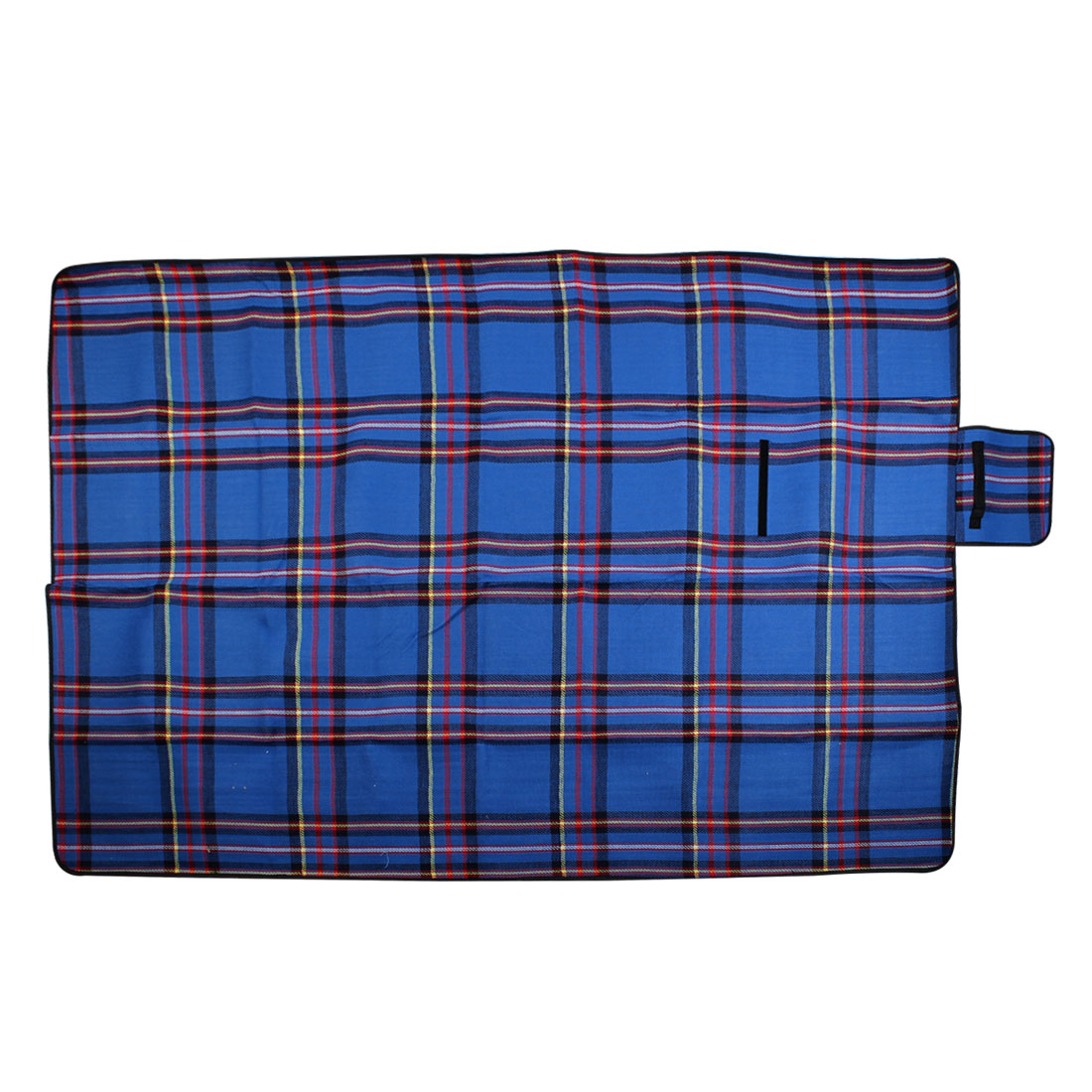 Portable Cashmere Plaid Pattern Waterproof Camping Picnic Mat Matress 200cm x150cm Blue