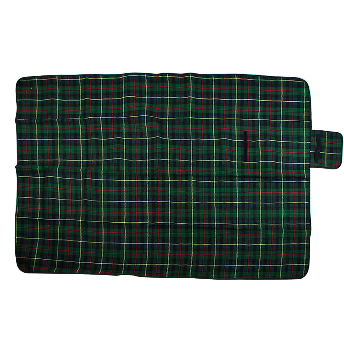 Portable Cashmere Plaid Pattern Waterproof Camping Picnic Mat Matress 200cm x150cm Green