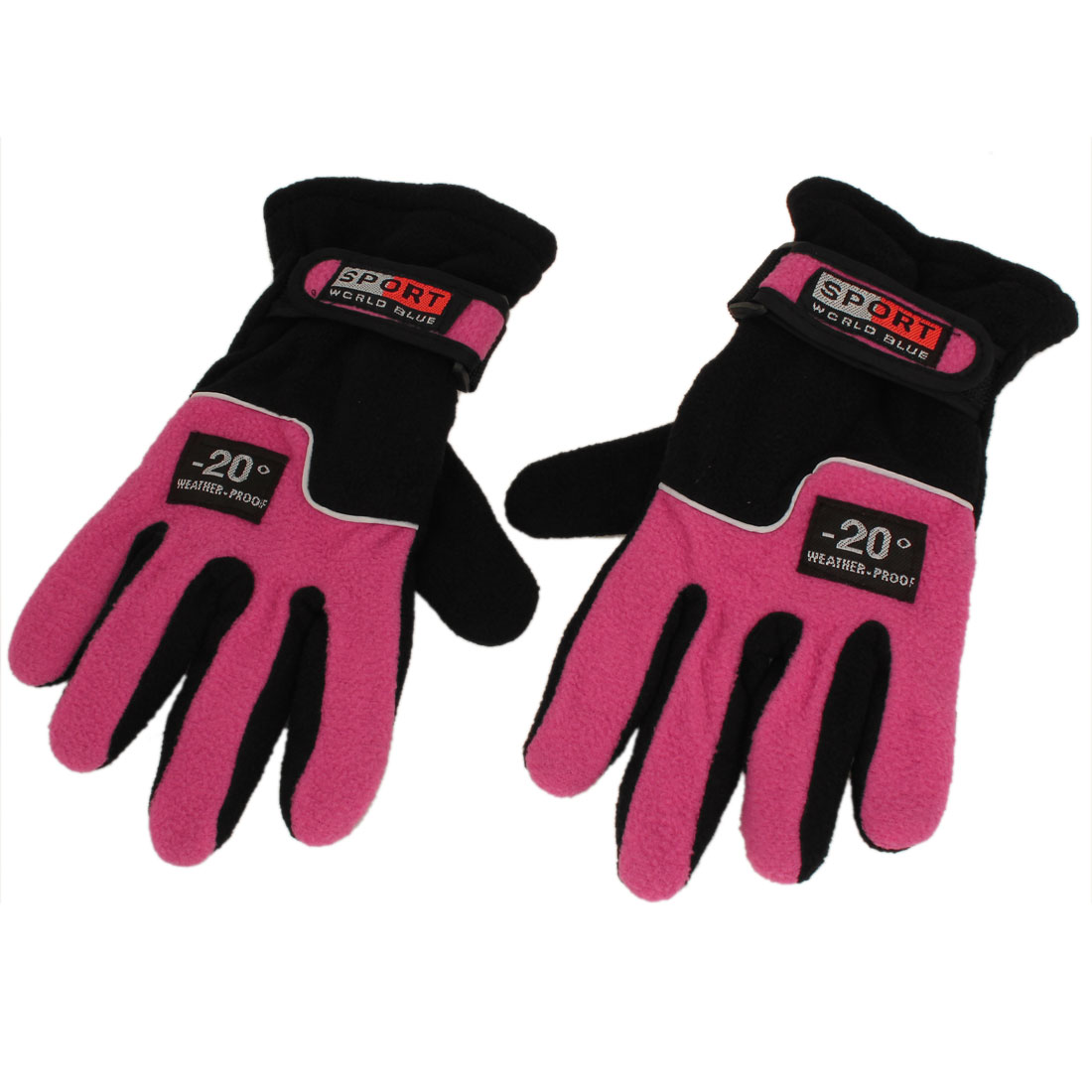 Pair Outdoor Cycling Snowboard Ski Fleece Thermal Winter Gloves Pink for Unisex