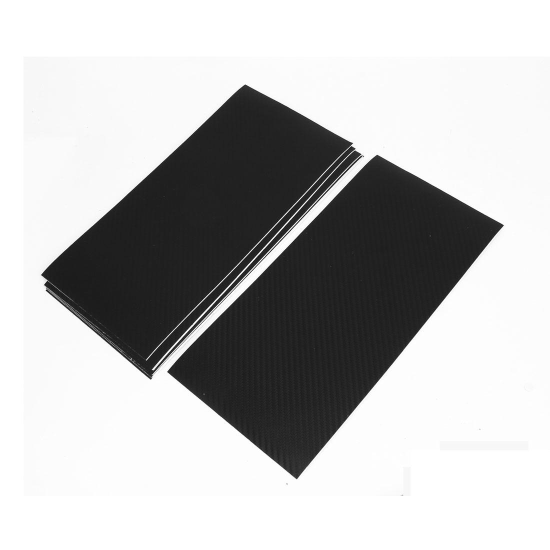 10pcs 300 x 143mm Self Adhesive Carbon Fiber Pattern Vinyl Protective Film Sticker Black for Car