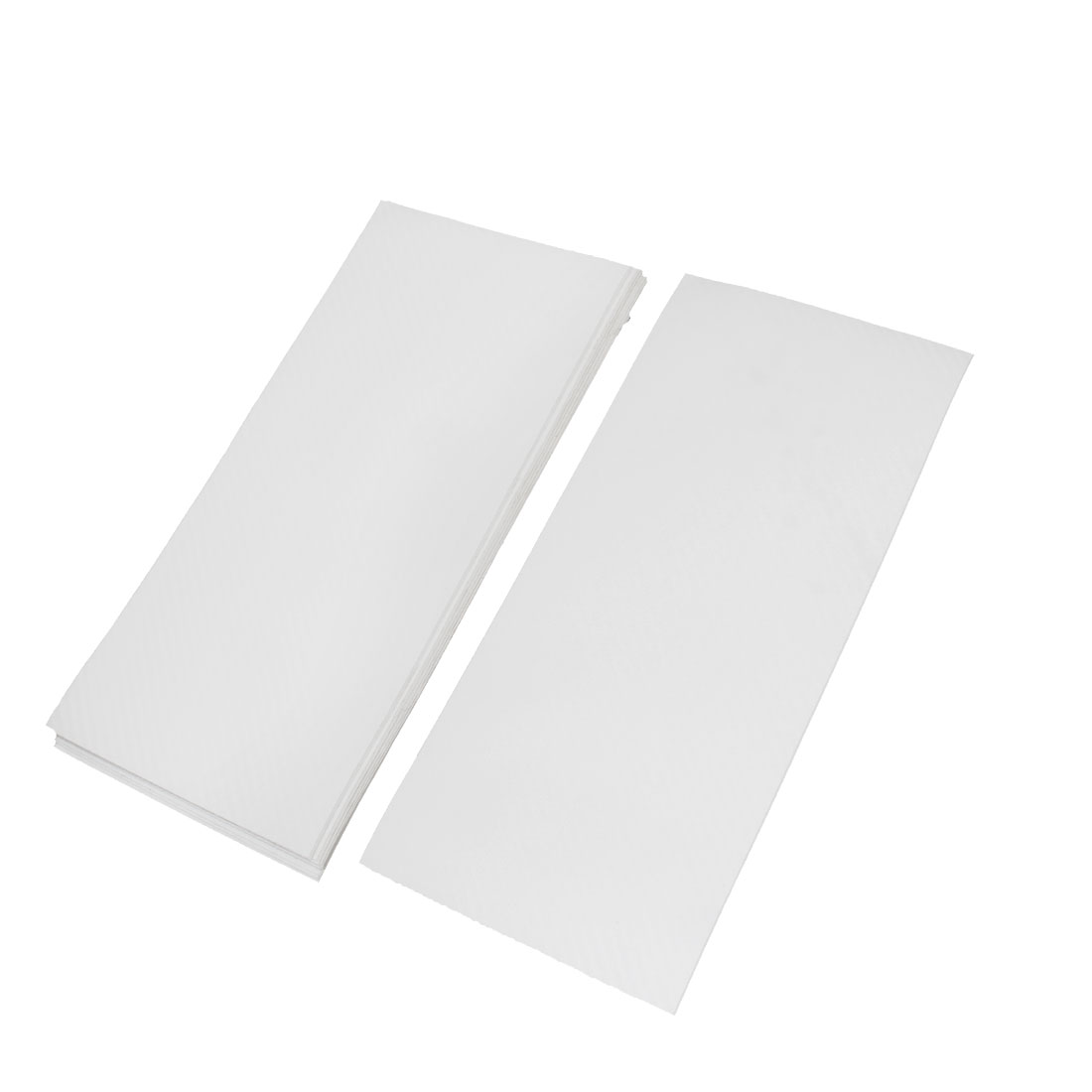 10pcs 300 x 134mm Self Adhesive Carbon Fiber Protective Film Sticker White for Car