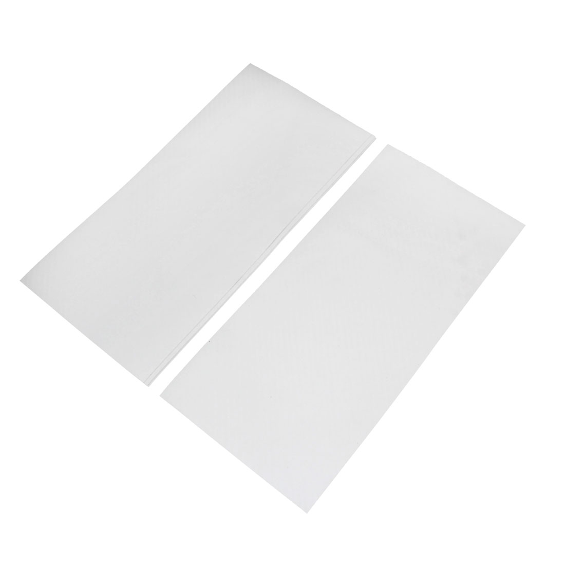 5pcs 300 x 140mm Self Adhesive Carbon Fiber Protective Film Sticker White for Car