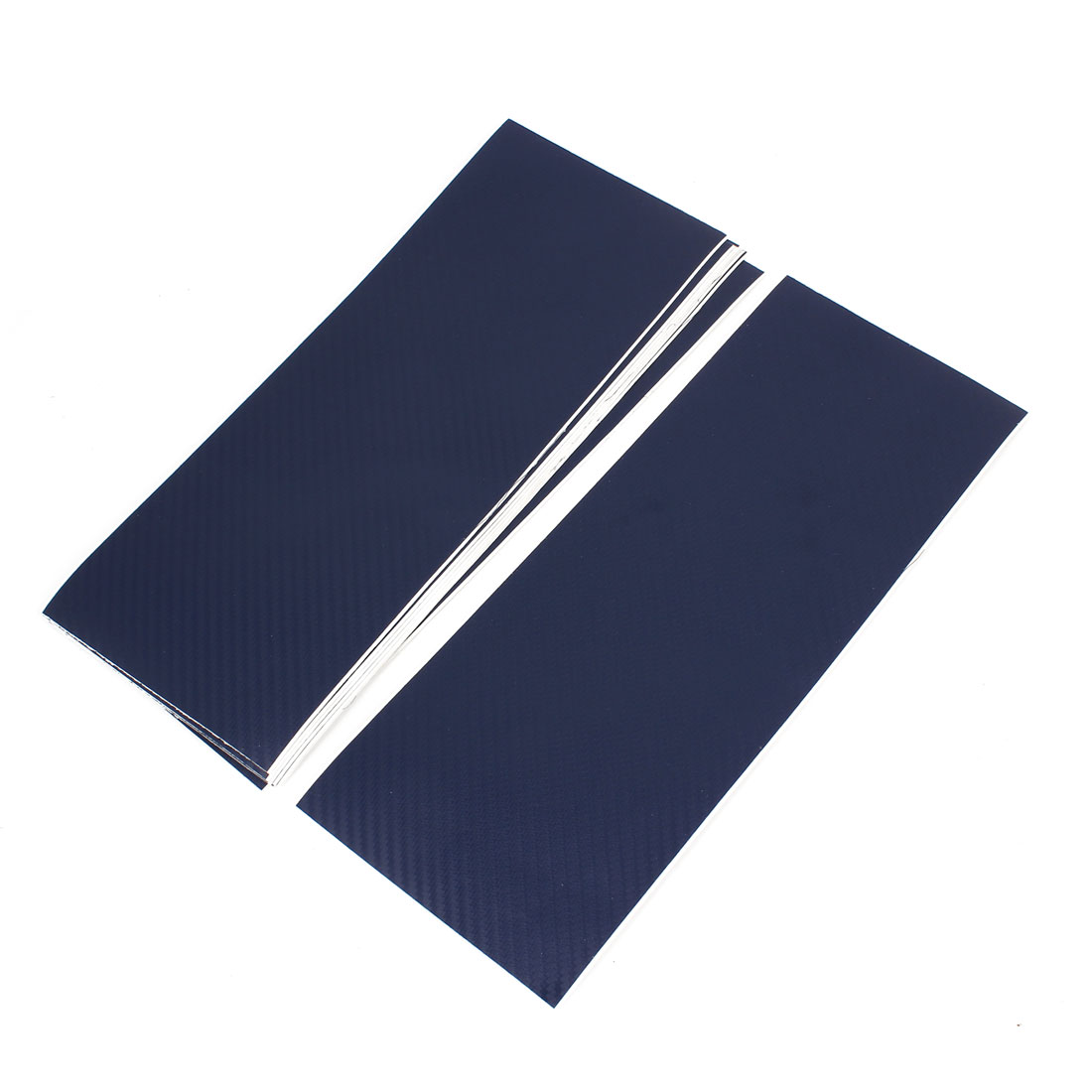 10pcs 300 x 115mm Adhesive Back Carbon Fiber Print Protective Vinyl Film Sticker Dark Blue for Car