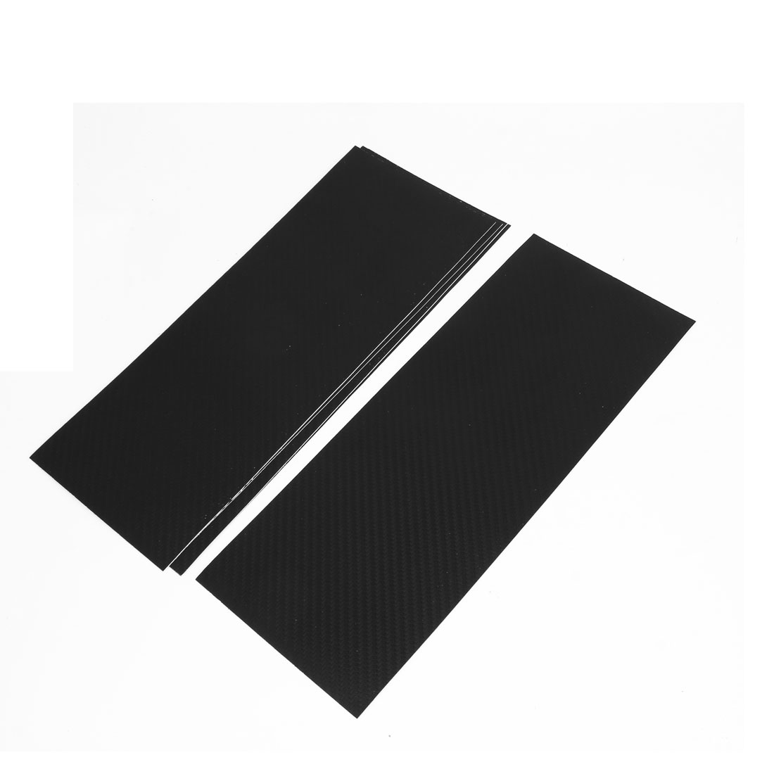 5pcs 300 x 118mm Self Adhesive Carbon Fiber Print Protective Vinyl Film Sticker Black for Car