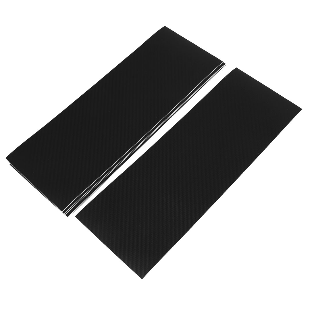 5pcs 300 x 107mm Self Adhesive Carbon Fiber Protective Film Sticker Black for Car
