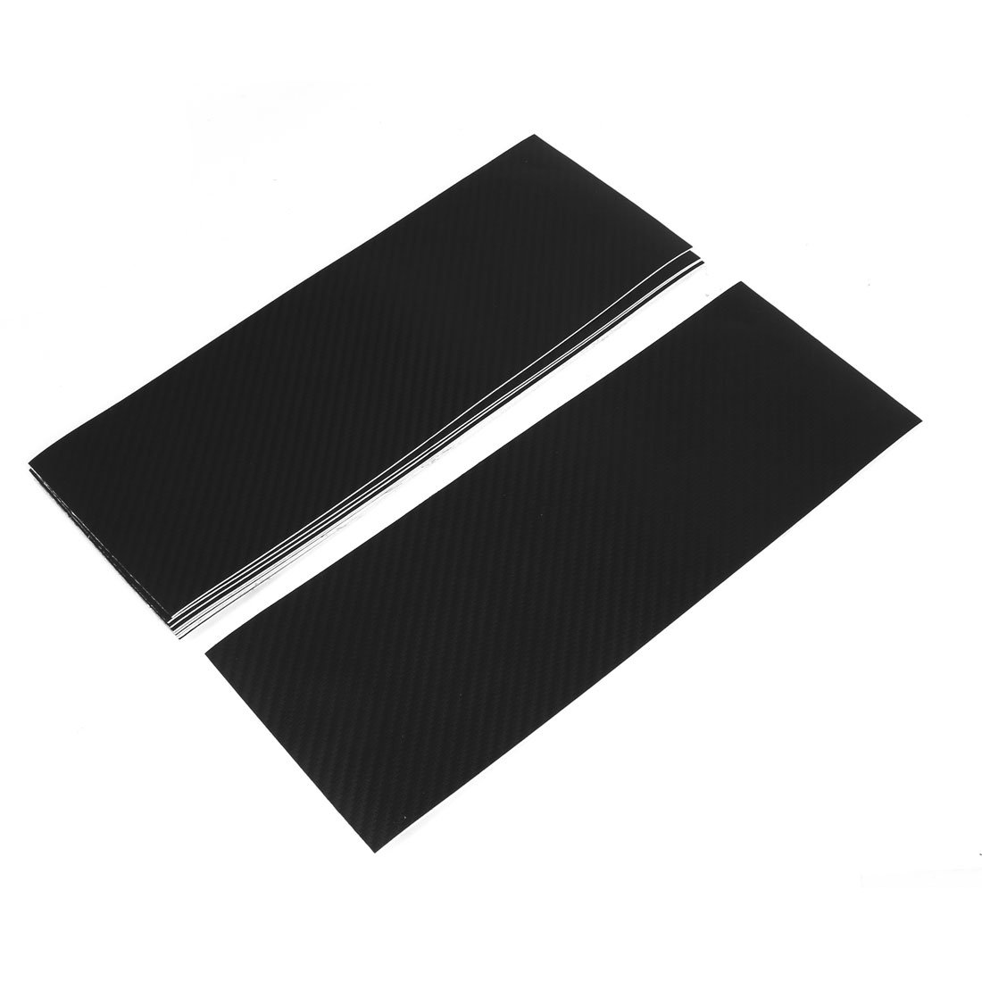 10pcs 300 x 107mm Self Adhesive Carbon Fiber Protective Film Sticker Black for Car