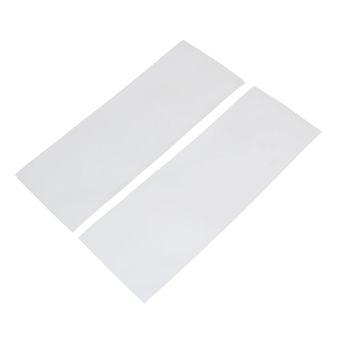 5pcs 300 x 106mm Self Adhesive Carbon Fiber Protective Film Sticker White for Car