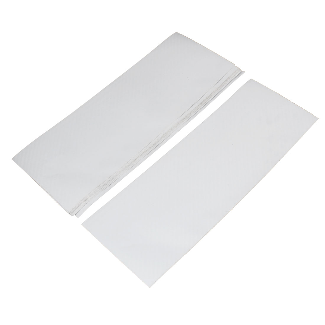10pcs 300 x 106mm Self Adhesive Carbon Fiber Protective Film Sticker White for Car