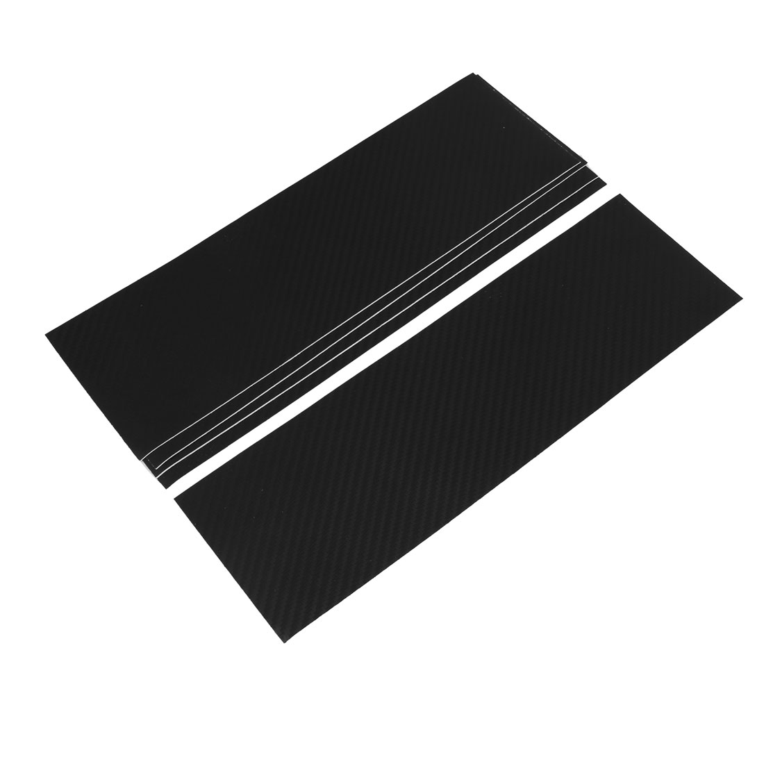 5pcs 300 x 92mm Self Adhesive Carbon Fiber Protective Film Sticker Black for Car