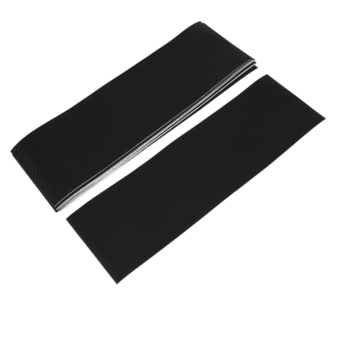 10pcs 300 x 92mm Self Adhesive Carbon Fiber Protective Film Sticker Black for Car