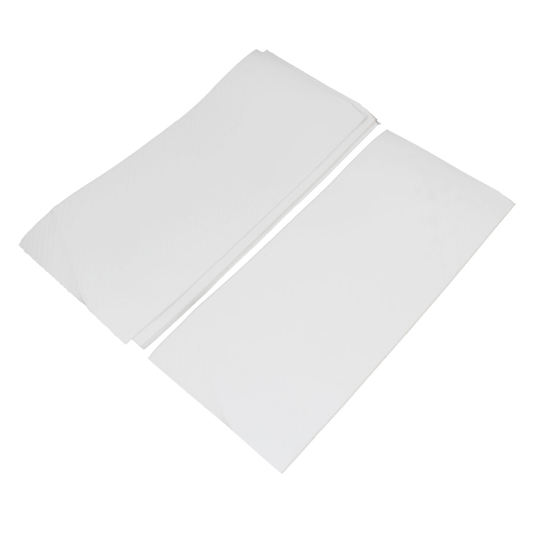 5pcs 300 x 134mm Self Adhesive Carbon Fiber Protective Film Sticker White for Car