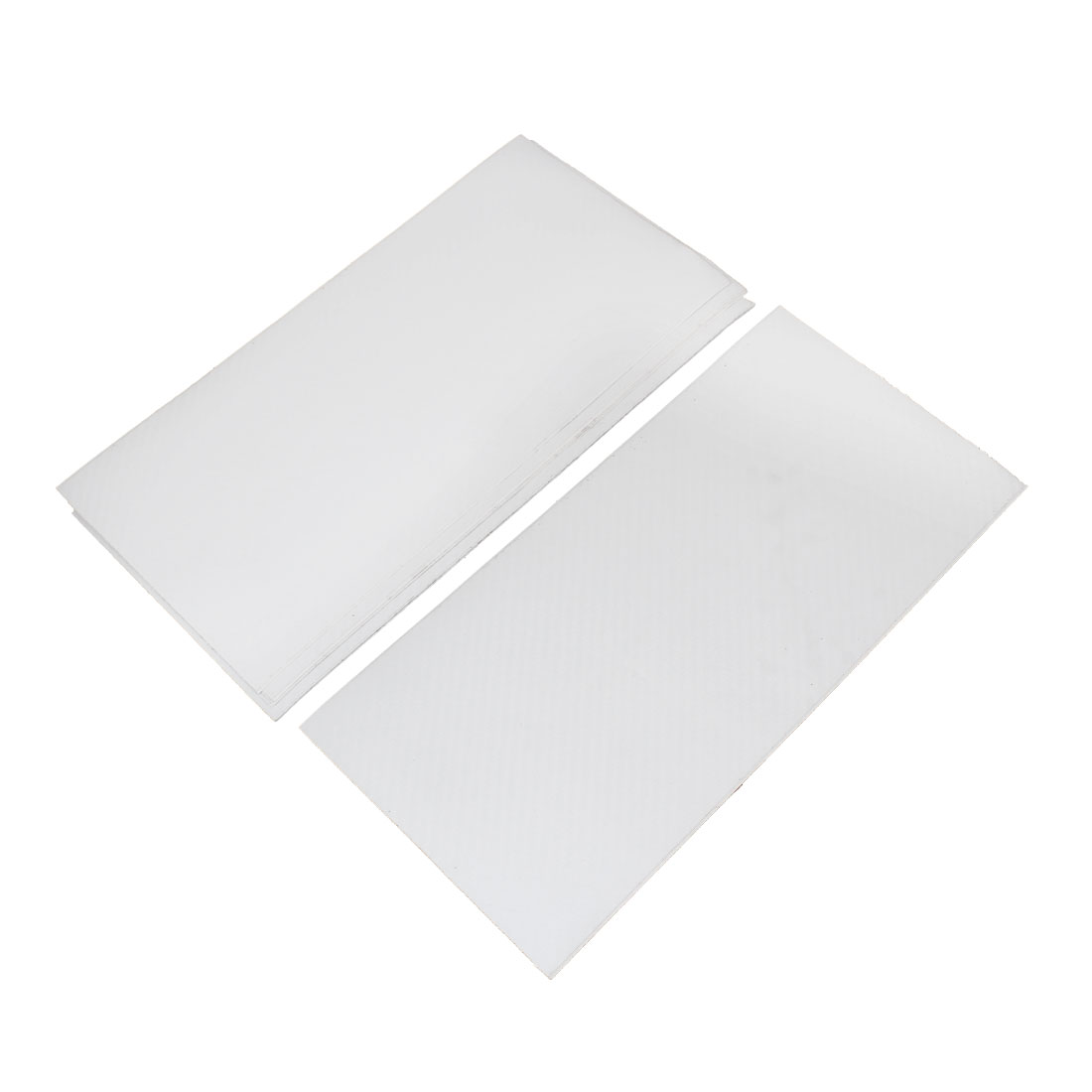 10pcs 300 x 143mm Self Adhesive Carbon Fiber Protective Film Sticker White for Car