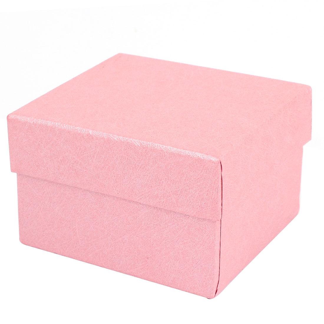 Present Jewelry Wrist Watch Bracelets Storage Display Gift Box Case Pink w Cushion