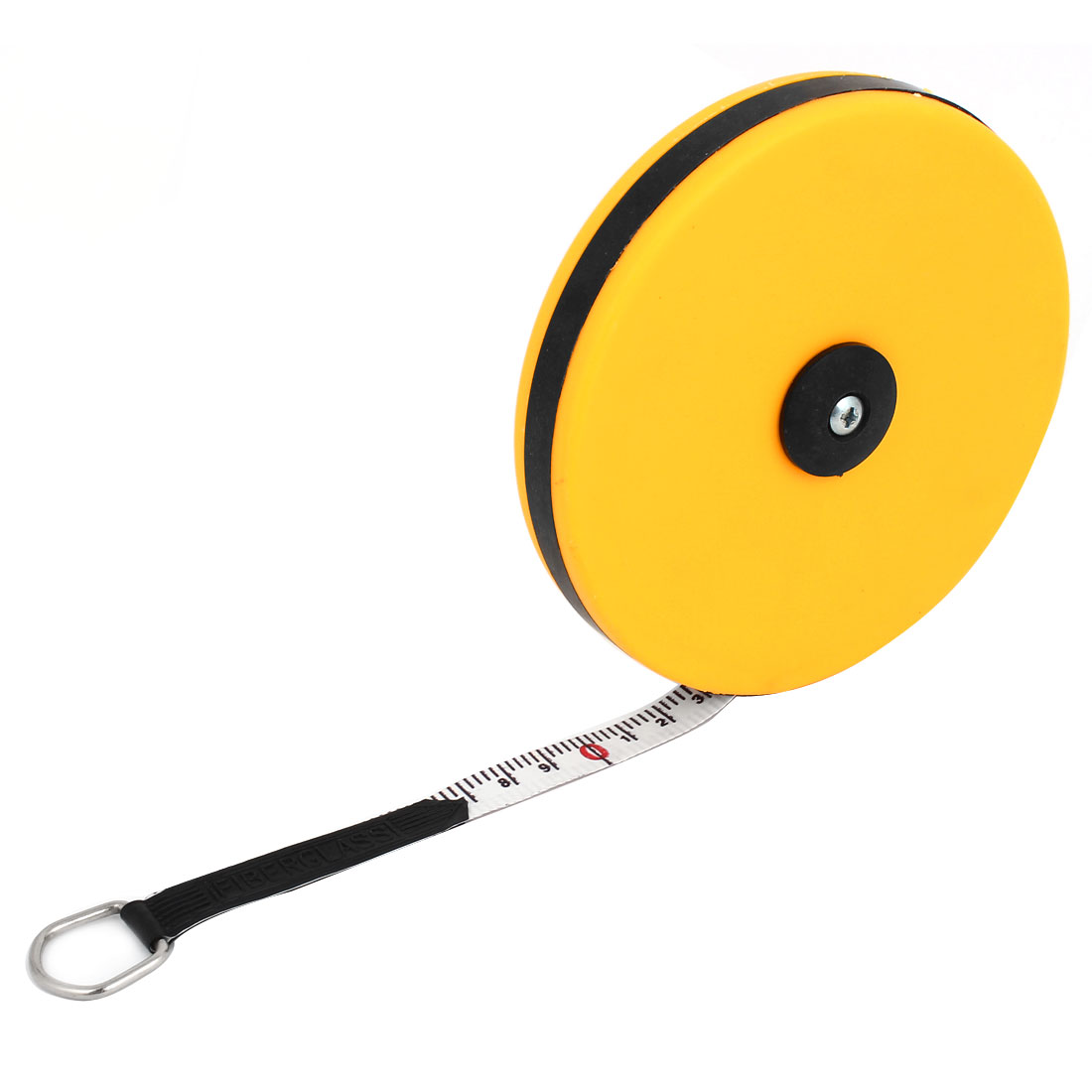 Yellow Plastic Housing Retractable Metric Ruler Range Measuring Measure Tape 20M 65Ft